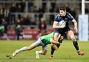 Sale Sharks full back Luke James during a Gallagher Premiership match won by Sale Sharks 27-17 at the AJ Bell Stadium, Eccles, Greater Manchester, United Kingdom, Friday, April 5, 2019. (Steve Flynn/Image of Sport)
