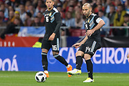 Javier Mascherano of Argentina during the International friendly game football match between Spain and Argentina on march 27, 2018 at Wanda Metropolitano Stadium in Madrid, Spain - Photo Rudy / Spain ProSportsImages / DPPI / ProSportsImages / DPPI