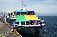 Tokai Kisen Ferry, Izu Islands.  Travel by ferryboat is an important means of transportation among the Japanese islands.