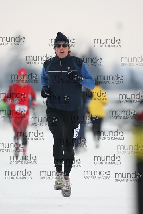 Ottawa, Canada ---07/02/09---PETER VANWESENBEECK of OTTAWA finished in 5 overall  2009 WinterludeTriathlon. It is a speed skate, cross country ski, run version of the triathlon. Photo copyright Sean Burges/Mundo Sport Images, 2009.