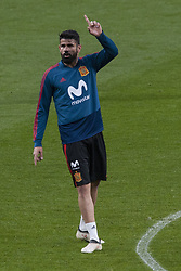 March 26, 2018 - Madrid, Madrid, Spain - Diego Costa (Atletico Madrid) during the training of the Spanish soccer team, before the friendly match between Spain and Argentina., on March 27, 2018. Wanda Metropolitano Stadium, Madrid, Spain. (Credit Image: © Jose Breton/NurPhoto via ZUMA Press)