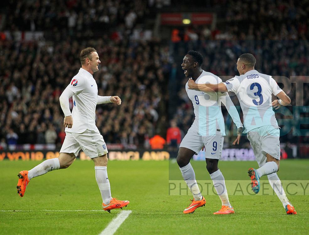 England's Danny Welbeck celebrates scoring his sides second goal<br /> <br /> - International European Qualifier - England vs Slovenia- Wembley Stadium - London - England - 15th November 2014  - Picture David Klein/Sportimage