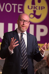 @Licensed to London News Pictures 11/04/2017. Margate, Kent. UKIP Leader Paul Nuttall speaks today  at the Walpole Bay Hotel in Thanet to launch the UKIP local election campaign in Kent. Photo credit: Manu Palomeque/LNP