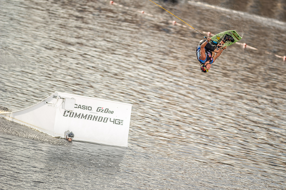 Aaron Rathy Competes in the park competition during the Red Bull Wake Open in Tampa, Florida, USA on 6 July 2013.