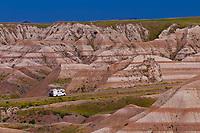 Badlands Loop Road, Badlands National Park, South Dakota USA