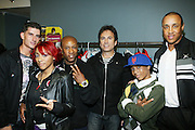 l to r: Donnie Klang, Cherri Dennis, Du Love, David Strumeier, Baby Triggy, and John Starks at the South Pole Fashion show during ' The Stay in School Concert ' facilated by Entertainers for Education held at The Manhattan Center on October 28, 2008 in New York City