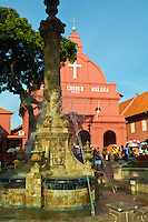 Dutch Square is the popular name for the Malacca Town Square. The name Dutch Square came about since the British administration on account of the numerous Dutch-era administrative buildings left behind by the departing colonial forces. The square is said to have been built in the middle of the 17th century, and the Dutch lined it with the main townhouse, or Stadthuys, along with the Dutch Reformed Church, now called Christ Church.  n recent years, the Dutch Square has also been called the Red Square, since many of the Dutch buildings were now painted maroon. The color scheme was started by the British in the 1920's, when they painted them salmon Red. The local authorities darkened it to maroon in later years.