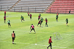 South Africa: Johannesburg: Orlando Pirates players during a training session at the Rand Stadium in preparation for the much anticipating Soweto derby on the weekend, Gauteng.<br />815<br />22.10.2018<br />Picture: Itumeleng English/African News Agency (ANA)