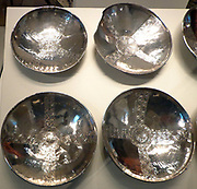 The Byzantine Silver bowls. Eastern Mediterranean, AD 500s-600s. Found in the Sutton Hoo ship burial site, UK.
