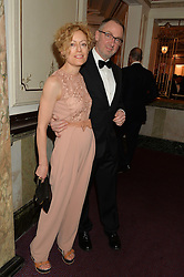 GEORGIE HOPTON and GARY HUME at The Backstage Gala hosted by Diana Vishneva , Principal Dancer of the Mariinsky and American Ballet Theatre, and Natalia Vodianova in aid of The Naked Heart Foundation held at The London Coliseum, St.Martin's Lane, London on 17th April 2015.