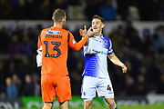 Jack Bonham (13) of Bristol Rovers and Tom Lockyer (4) of Bristol Rovers celebrate the 2-0 win over Wimbledon at full time during the EFL Sky Bet League 1 match between Bristol Rovers and AFC Wimbledon at the Memorial Stadium, Bristol, England on 23 October 2018.