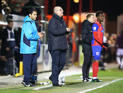 March 21, 2018 - Dagenham, England, United Kingdom - L-R Gary Singh who paid £ 2500.00 to manager for the game and Dagenham & Redbridge manager John Still .during Friendly match between Dagenham and Redbridge against West Ham United at Chigwell Construction  stadium, Dagenham England on 21 March 2018. (Credit Image: © Kieran Galvin/NurPhoto via ZUMA Press)