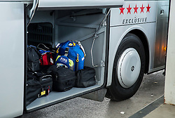 Luggage in bus after arrival of  England National Football team 1 day before EURO 2016 Qualifications match against Slovenia, on June 13, 2015 in Airport Joze Pucnik, Brnik - Ljubljana, Slovenia. Photo by Vid Ponikvar / Sportida