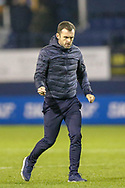 Luton Town Manager Nathan Jones celebrates at full time during the EFL Sky Bet League 1 match between Luton Town and Bradford City at Kenilworth Road, Luton, England on 27 November 2018.