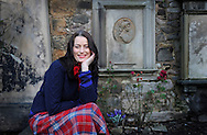 JP License<br /> The Secret Sex Life of Robert Burns.<br /> <br /> Writer Keara Murphy focuses on what happened to four of the women who had relationships with Robert Burns.<br /> <br /> Photographed at Clarinda's grave, Canongate kirkyard.<br /> <br /> <br />  Neil Hanna Photography<br /> www.neilhannaphotography.co.uk<br /> 07702 246823