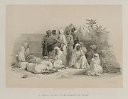 Egypt and Nubia, Volume III: In the Slave Market at Cairo, 1849. Louis Haghe (British, 1806-1885), F.G.Moon, 20 Threadneedle Street, London, after David Roberts (British, 1796-1864). Color lithograph