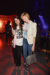 """Bella Freud and Lily Cole at """"Hoping For Palestine"""" Benefit Concert For Palestinian Refugee Children held at The Roundhouse, Chalk Farm Road, England. 04 June 2018. <br /> Photo by Dominic O'Neill/SilverHub 0203 174 1069/ 07711972644 - Editors@silverhubmedia.com"""