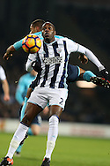 Allan Nyom of West Bromwich Albion in action.Premier league match, West Bromwich Albion v Swansea city at the Hawthorns stadium in West Bromwich, Midlands on Wednesday 14th December 2016. pic by Andrew Orchard, Andrew Orchard sports photography.