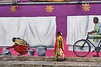 Singapour, le quartier de Little India, peinture murale // Singapore, Little India district, wall painting