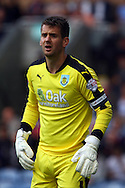 Burnley Goalkeeper Thomas Heaton looks on. Skybet football league championship match, Burnley  v Birmingham City at Turf Moor in Burnley, Lancs on Saturday 15th August 2015.<br /> pic by Chris Stading, Andrew Orchard sports photography.