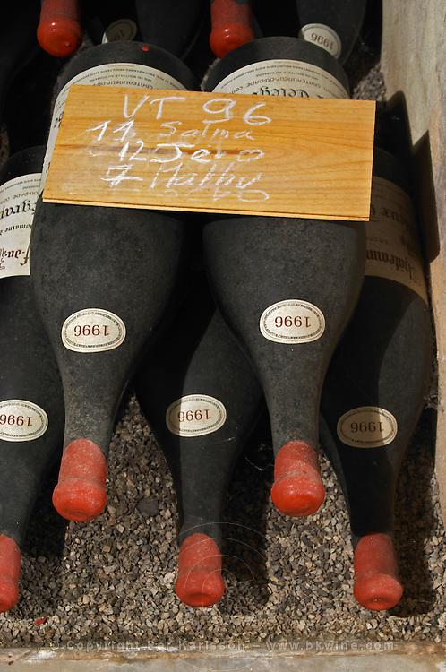 old bottles in the cellar 1996 dom du vieux telegraphe chateauneuf du pape rhone france
