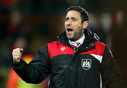 Bristol City head coach Lee Johnson celebrates at full time - Mandatory by-line: Matt McNulty/JMP - 17/01/2017 - FOOTBALL - Highbury Stadium - Fleetwood,  - Fleetwood Town v Bristol City - Emirates FA Cup Third Round Replay