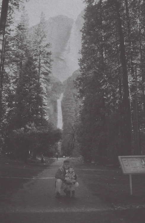 1. When was this photo taken?<br /> <br /> August 2001<br /> <br /> 2. Where was this photo taken?<br /> <br /> Yosemite Valley<br /> <br /> 3. Who took this photo?<br /> <br /> Jenni (wife) & Ryan (son)<br /> <br /> 4. What are we looking at here?<br /> <br /> Posing for a photo at Yosemite Falls<br /> <br /> 5. How does this old photo make you feel?<br /> <br /> Not old<br /> <br /> 6. Is this what you expected to see?<br /> <br /> not really<br /> <br /> 7. What kind of memories does this photo bring back?<br /> <br /> great trip to a National Park<br /> <br /> 8. How do you think others will respond to this photo?<br /> <br /> vacation memories