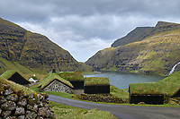 Saksun is a village near the northwest coast of the Faroese island of Streymoy, in Sunda Municipality. Saksun lies in the bottom of what used to be an inlet of the sea, surrounded by high mountains.