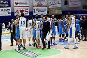 DESCRIZIONE : Capo dOrlando Lega A 2015-16 Betaland Orlandina Basket Vanoli Cremona<br /> GIOCATORE : Team<br /> CATEGORIA : Delusione fine partita<br /> SQUADRA : Betaland Orlandina Basket<br /> EVENTO : Campionato Lega A Beko 2015-2016 <br /> GARA : Betaland Orlandina Basket Vanoli Cremona<br /> DATA : 15/11/2015<br /> SPORT : Pallacanestro <br /> AUTORE : Agenzia Ciamillo-Castoria/G.Pappalardo<br /> Galleria : Lega Basket A Beko 2015-2016<br /> Fotonotizia : Capo dOrlando Lega A Beko 2015-16 Betaland Orlandina Basket Vanoli Cremona