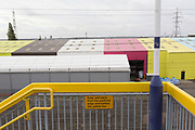 Seen from the railway bridge at Rainham rail station is an industrial landscape of business units, on 8th October 2019, in Rainham, Essex, England. Voters in this Havering borough voted 69% in favour of Brexit during the 2016 referendum.