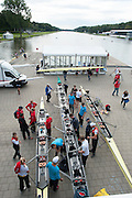 Amsterdam. NETHERLANDS.  General Views of crews rigging their boat after arriving at the venue, for the 2014 FISA  World Rowing. Championships.  De Bosbaan Rowing Course . 16:01:15  Wednesday  20/08/2014  [Mandatory Credit; Peter Spurrier/Intersport-images]