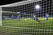GOAL 1-1 AFC Wimbledon defender Ben Heneghan (22) (not in picture) scores, beating Gillingham goalkeeper Jack Bonham (1) during the EFL Sky Bet League 1 match between Gillingham and AFC Wimbledon at the MEMS Priestfield Stadium, Gillingham, England on 24 November 2020.