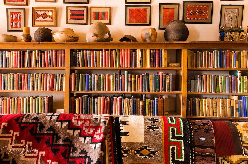 Navajo art and classic books, Hubbell Trading Post National Historic Site, Arizona USA