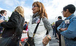 Oct. 04, 2016 - Haverford, PA, U.S. -  Supporters line up for Hillary Clinton's conversation with Delaware County families at the Haverford Community Recreation & Community Center.(Credit Image: © Brian Cahn via ZUMA Wire)