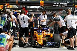 July 27, 2018 - Budapest, Hungary - Motorsports: FIA Formula One World Championship 2018, Grand Prix of Hungary, .#14 Fernando Alonso (ESP, McLaren F1 Team) (Credit Image: © Hoch Zwei via ZUMA Wire)