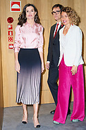 Queen Letizia of Spain, Meritxel Batet attends he Rare Disease Day 2020 at BBVA Headquarters on March 5, 2020 in Madrid, Spain