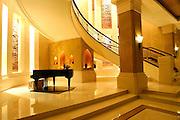 A piano in a grand hotel in Bangkok, Thailand