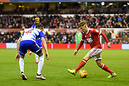 Nottingham Forest midfielder Ben Osborn (11) in action during the EFL Sky Bet Championship match between Nottingham Forest and Reading at the City Ground, Nottingham, England on 20 February 2018. Picture by Jon Hobley.
