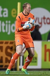 October 28, 2017 - Westerlo, BELGIUM - Westerlo's goalkeeper Kristof Van Hout pictured in action during a soccer game between KVC Westerlo and Lierse SK, in Westerlo, Saturday 28 October 2017, on day 13 of the division 1B Proximus League competition of the Belgian soccer championship. BELGA PHOTO YORICK JANSENS (Credit Image: © Yorick Jansens/Belga via ZUMA Press)