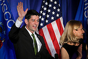 "U.S. Speaker of the House Paul Ryan (R-WI) waves to the crowd during an ""Election Night event"" in Janesville, Wisconsin, U.S. November 8, 2016. REUTERS/Ben Brewer"