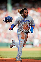 Toronto BlueJays Vladimir Guerrero Jr. plays in a game against the Redsox at Fenway Park in Boston.<br /> <br /> (Photo/Tom DiPace)