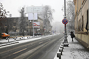 Bucharest, Romania. Photographed in winter December