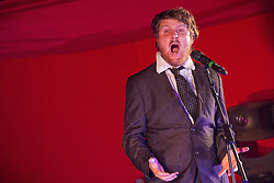 © Licensed to London News Pictures . 21/07/2013 . Suffolk , UK . Poet and comedian Tim Key on the Cabaret Stage . The Latitude music and culture festival in Henham Park , Southwold . Photo credit : Joel Goodman/LNP