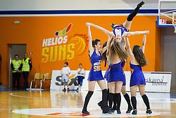 Dance team of KK Helios Suns during basketball match between KK Helios Suns and KK Krka in semi-final of Nova KBM Champions League 2015/16, on May 23, 2016 in Hala Kominalnega Centra, Domzale, Slovenia. Photo by Urban Urbanc / Sportida