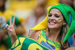 Torcida Brasileira na partida entre Brasil x México, válida pela segunda rodada do grupo A da Copa do Mundo 2014, no estádio Castelão em Fortaleza, Ceará. FOTO: Jefferson Bernardes/ Agência Preview