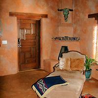 North America, United States, New Mexico, Taos. The Argentina Suite at El Monte Sagrado eco-resort.