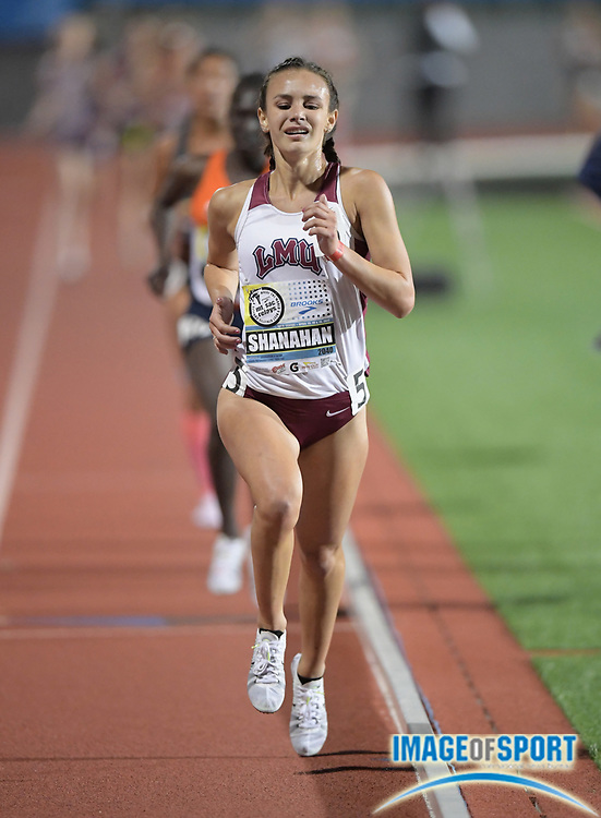 Apr 13, 2017; Torrance, CA, USA; Danielle Shanahan (2040) of Loyola Marymount wins the women's invitational 10,000m in 33:45.59 during the 58th Mt. San Antonio College Relays at El Camino College.