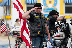 An American Legion veterans parade on the streets of Wildwood after a day at the TROG (The Race Of Gentlemen). NJ. USA. Saturday June 9, 2018. Photography ©2018 Michael Lichter.TROG (The Race Of Gentlemen). Wildwood, NJ. USA. Saturday June 9, 2018. Photography ©2018 Michael Lichter.