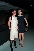 STELLA IONNOU; CAROLINE SAMPSON, The Surreal House Barbican art gallery afterwards SURREAL DINNER at Hoxton hall. London. 9 June 2010. -DO NOT ARCHIVE-© Copyright Photograph by Dafydd Jones. 248 Clapham Rd. London SW9 0PZ. Tel 0207 820 0771. www.dafjones.com.