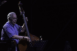 July 21, 2019 - Rome, Italy, Italy - The Trio composed by Peter Erskine on the drums, Eddie Gomez on the double bass and Dado Moroni on the piano, performed on 21/7/2019 on the stage of the Casa del Jazz in Rome during the Summertime 2019 festival. Eddie Gomez (Credit Image: © Leo Claudio De Petris/Pacific Press via ZUMA Wire)